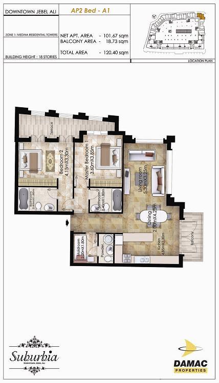 2 Bedroom Apartment - Suburbia